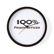 100 Percent Prison Officer Wall Clock