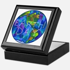 Earth Day Planet Keepsake Box
