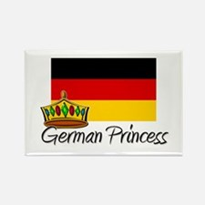 German Princess Rectangle Magnet