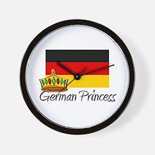 German Princess Wall Clock