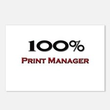 100 Percent Print Manager Postcards (Package of 8)