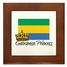 Gabonese Princess Framed Tile