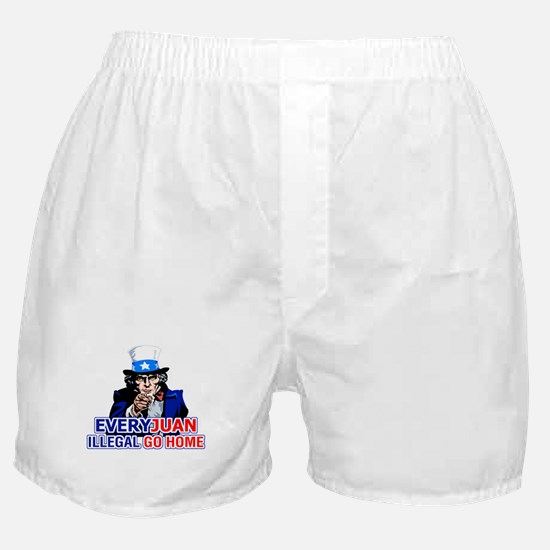 Uncle Sam: EveryJuan Illegal Go Home Boxer Shorts