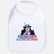 Uncle Sam: EveryJuan Illegal Go Home Bib