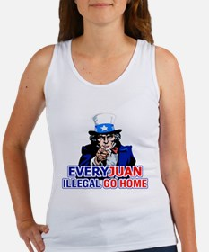 Uncle Sam: EveryJuan Illegal Go Home Women's Tank