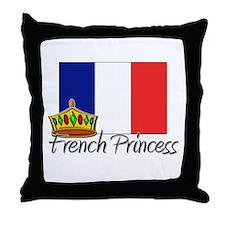 French Polynesian Princess Throw Pillow
