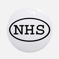 NHS Oval Ornament (Round)