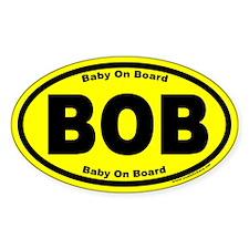 Baby On Board BOB Yellow Euro Oval Decal