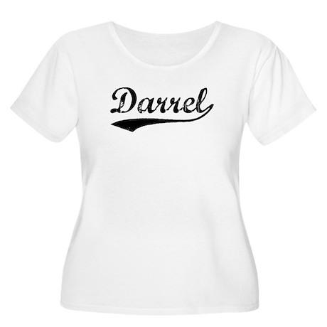 Vintage Darrel (Black) Women's Plus Size Scoop Nec
