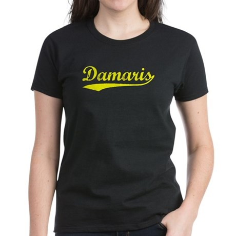 Vintage Damaris (Gold) Women's Dark T-Shirt