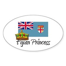 Fijian Princess Oval Stickers