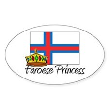 Faroese Princess Oval Decal