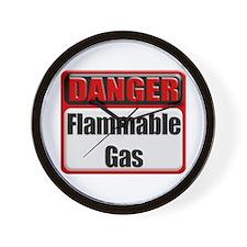 Danger: Flammable Gas Wall Clock