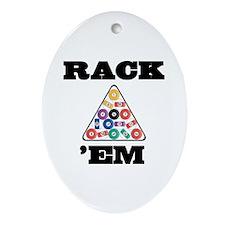 Pool Rack 'Em Ornament (Oval)