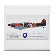 Supermarine Spitfire Aircraft Tile Coaster