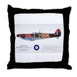 Supermarine Spitfire Aircraft Throw Pillow