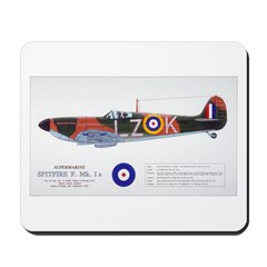 Supermarine Spitfire Aircraft Mousepad