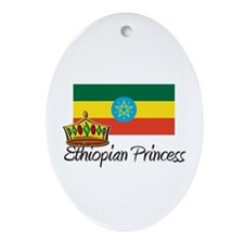 Ethiopian Princess Oval Ornament