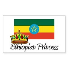 Ethiopian Princess Rectangle Decal