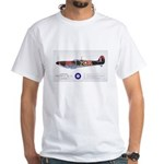 Supermarine Spitfire Aircraft White T-Shirt