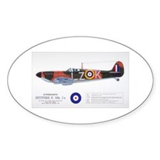 Supermarine Spitfire Aircraft Oval Decal