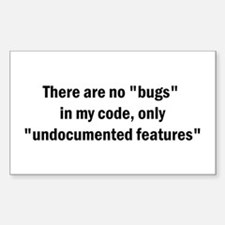 """No """"Bugs"""" Rectangle Decal"""