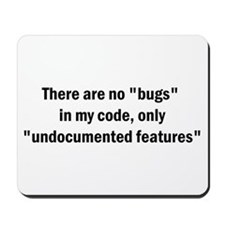 """No """"Bugs"""" Mousepad"""