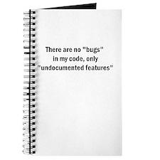 "No ""Bugs"" Journal"