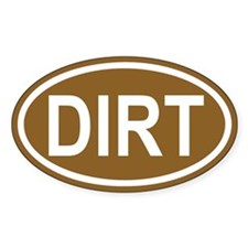 DIRT Brown Euro Oval Decal