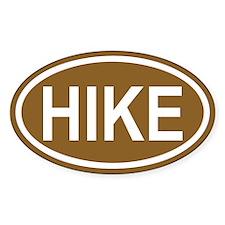 HIKE Hiking Brown Euro Oval Decal