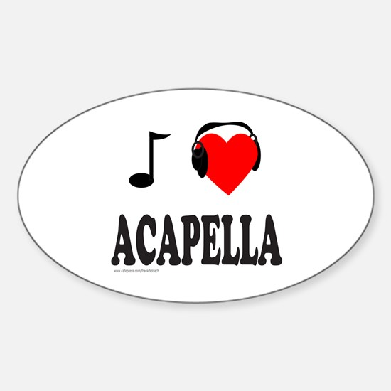 ACAPPELLA Oval Decal