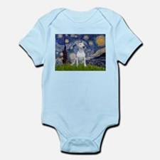 Starry Night/Bull Terrier Infant Bodysuit