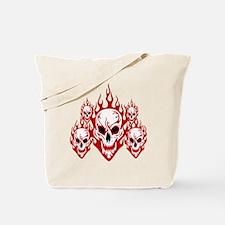 Burning skulls Tote Bag