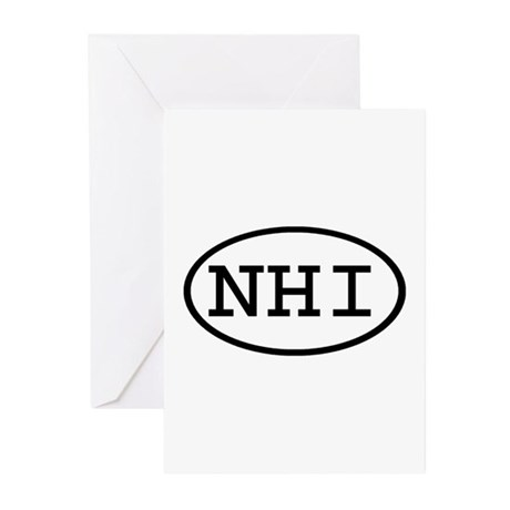 NHI Oval Greeting Cards (Pk of 20)