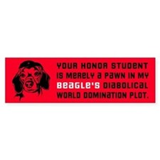 Beagle World Domination Bumper Bumper Sticker