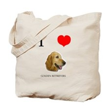 I Love Golden Retrievers Tote Bag