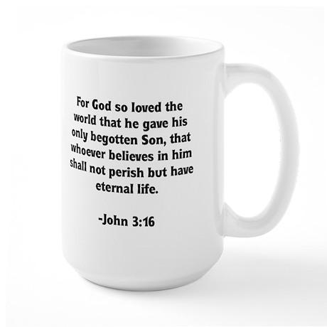 God's Love John 3:16 Large Mug