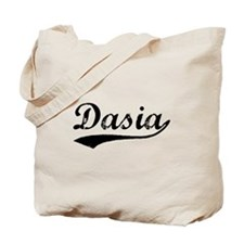 Vintage Dasia (Black) Tote Bag