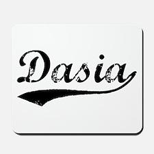 Vintage Dasia (Black) Mousepad