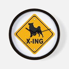 Vallhund X-ing Wall Clock