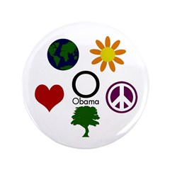 "Five Icons for Obama 3.5"" Button"