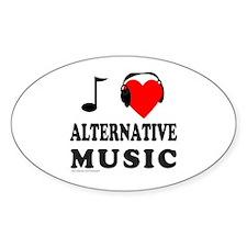 ALTERNATIVE MUSIC Oval Decal