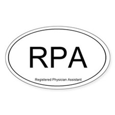 Registered Physician Assistant Oval Decal