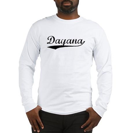 Vintage Dayana (Black) Long Sleeve T-Shirt