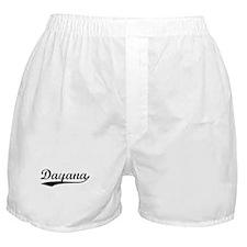 Vintage Dayana (Black) Boxer Shorts