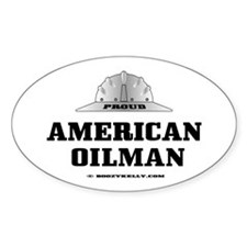 American Oilman Oval Bumper Stickers