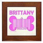 BRITTANY PRICELESS Framed Tile