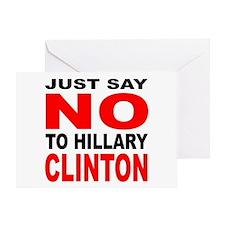 Anti-Hillary Clinton Greeting Card