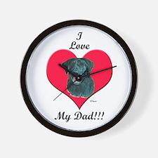 Black Lab: I love my Dad! Wall Clock