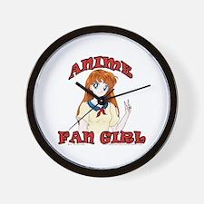 Anime Fan Girl Wall Clock